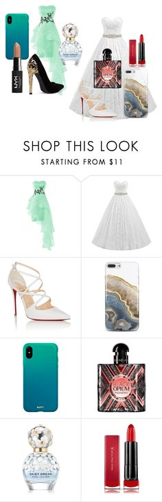 """""""Waves & Pure"""" by lottebrooke ❤ liked on Polyvore featuring Christian Louboutin, Nanette Lepore, Yves Saint Laurent, Marc Jacobs, Max Factor and NYX"""