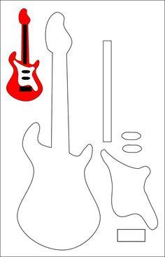 Guitar Outline Vinyl On The Go Guitar Imprimibles Pinterest