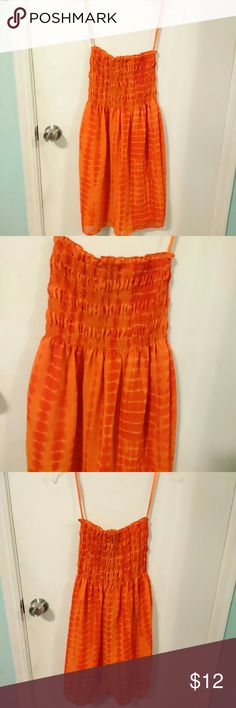 MPH Collection orange tube dress!!! Cute MPH collection orange tube dress, made of 100% polyester from India. This dress is NEW without tag. Size Medium, but would fit for Small as well. MPH Collection Dresses Midi