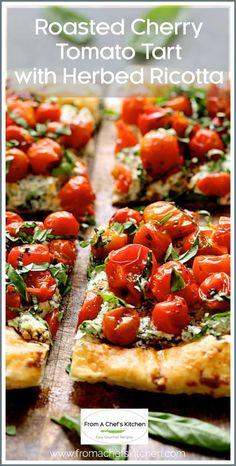 Tart Recipes, Vegetable Recipes, Gourmet Recipes, Appetizer Recipes, Vegetarian Recipes, Cooking Recipes, Healthy Recipes, Tomato Appetizers, Vegetable Soups