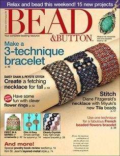 099 Bead & Button Magazine, 2010 October, #99 (Used) at Sova-Enterprises.com