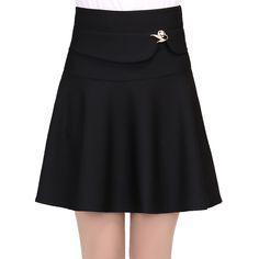 2016 Fashion Design Women Skirt Elastic Faldas Ladies High Skirt Sexy Girls mini Pleated Skirts Saias Korea Clothes