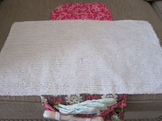Custom Diaper Changing Clutch with Attached Waterproof Pad--Over 80 Fabric Options. $42.00, via Etsy.