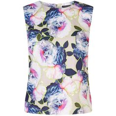Warehouse Neon Floral Top ($39) ❤ liked on Polyvore