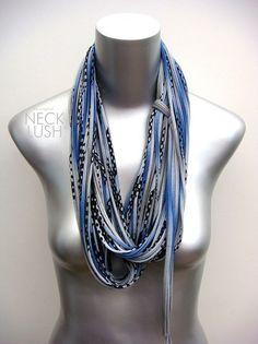 Spring Jewelry Infinity Boho Scarf Royal Saphire Blue