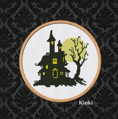 Cross Stitch Pattern The Witch House Instant by TinyNeedle on Etsy