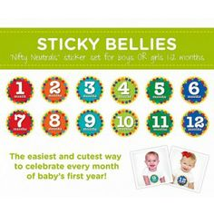 Bump N Baby Products - Sticky Bellies Nifty Neutrals 1-12 months unisex  $19.95 (http://www.bumpnbaby.com.au)