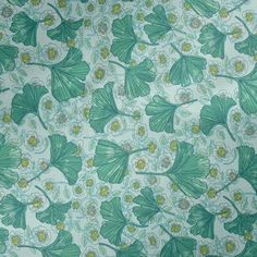 Rice Oilcloth Mint Leaves and Flowers