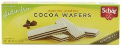 Schar Cocoa Wafers, Gluten Free, 4.4-Ounce Packages (Pack of 6)