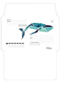 Mail Art Envelopes, Cute Envelopes, Diy Envelope, Envelope Design, 3d Paper Crafts, Diy Crafts For Gifts, Printable Scrapbook Paper, Printable Paper, Cork Board Ideas For Bedroom