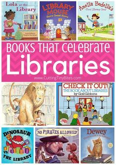 Books that celebrate libraries! If you're a teacher or parent to young children, you probably spend plenty of time at the library! Library Skills, Library Books, Library Ideas, Kid Books, Library Organization, Kids Library, Dream Library, Story Books, Local Library