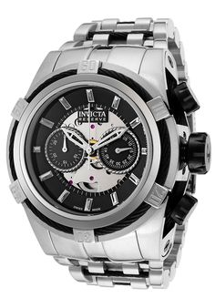 ccc3c961f1ca Image for Men s Bolt Reserve Automatic Chronograph Stainless Steel Black  Dial from World of Watches