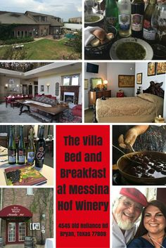 If you are looking for unique accommodations in the Bryan, Texas area, I highly recommend staying in one of the cool themed rooms from the state's best winery family, Messina Hof. The Villa at Messina Hof is a wonderful place to be pampered, sip on fabulous wines, plus walk across the parking lot for a wonderful dinner at their onsite restaurant.