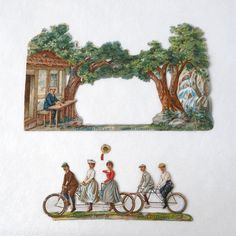 Repaired a Victorian cyclists diorama / ヴィクトリア時代のサイクリング・ジオラマを修理しました  http://onetosixteen.com/2014/10/24/repaired-a-victorian-cycling-diorama-ヴィクトリア時代のサイクリング・ジ/
