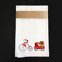 Christmas Kitchen Towel  New Orleans by BethDaiglePhotograph