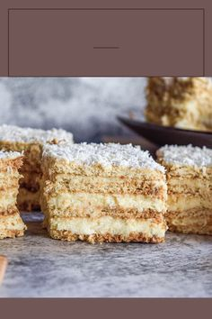 Sweet Recipes, Cake Recipes, Dessert Recipes, Desserts, I Want To Eat, No Bake Cake, Biscuits, Coconut, Cooking Recipes