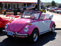 pink and white volkswagen beetle - Google Search