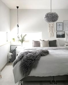 The gorgeous bedroom of @the.aesthetic.eye, Vita Eos lamp available at www.istome.co.uk