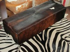 in leather cowhide