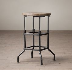 1920s American Factory Counter Stool