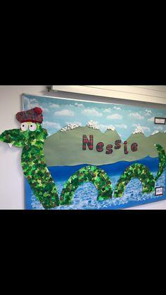 Nessie display Scotland, Arts And Crafts, Classroom, Display, School, Class Room, Floor Space, Billboard, Art And Craft