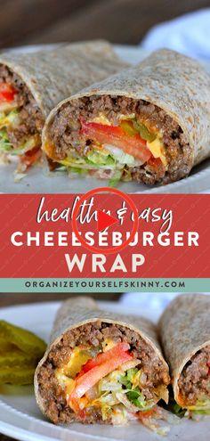 Diese gesunde Cheeseburger-Packung ist mit magerem Rinderhackfleisch, geschmolzenem Käse und all Ihren Lieblings-Hamburger-Toppings gefüllt. Genau wie ein echter Burger! #rinderhackfleischrezepte #dessertrezepte Healthy Low Carb Recipes, Healthy Meals For Kids, Healthy Foods To Eat, Healthy Eating, Healthy Snacks, Health Recipes, Healthy Women, Health Foods, Healthy Sweets