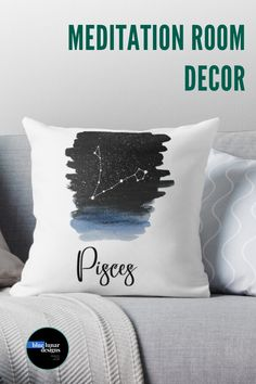 Astrology Stars, Zodiac Signs Astrology, Meditation Room Decor, Star Chart, Birth Chart, Best Pillow, Boho, Home Office Decor, Full Moon
