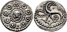 Anglo-Saxon Woden Head (Odin's Head) Coin, 8th Century ADThis 'Woden Head' sceat was minted at Hamwic (modern Southampton) circa 720-45 AD. The obverse shows Woden's head with bosses around it and the reverse shows a pecking bird. Woden (aka Wodan or Woten) is the Anglo-Saxon counterpart of the Norse god Odin, who sacrificed one eye in order to gain wisdom. In Anglo-Saxon England, Odin held a particular place as a euhemerized ancestral figure among royalty, and he is frequently referr...
