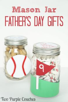 Father's Day Gift for Sports Dads - Mason Jar Crafts Love