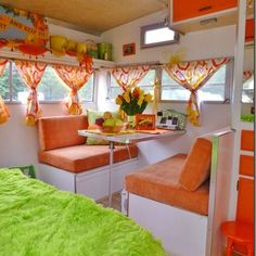 Retro Camper Interior Ideas 52