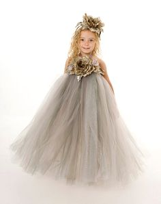 Flower Girl Tutu Dress  Grey  by Cutiepatootiedesignz on Etsy, $65.00. @ Caitlyn, I must have this for Vivian!!