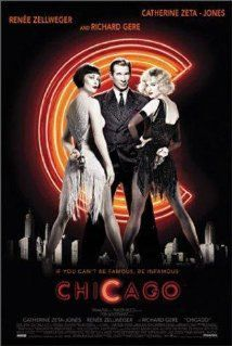 "BEST PICTURE:   (2002)    ""CHICAGO""  Murderesses Velma Kelly (a chanteuse and tease who killed her husband and sister after finding them in bed together) and Roxie Hart (who killed her boyfriend when she discovered he wasn't going to make her a star) find themselves on death row together and fight for the fame that will keep them from the gallows in 1920s Chicago.  Stars: Renée Zellweger, Catherine Zeta-Jones, Richard Gere"