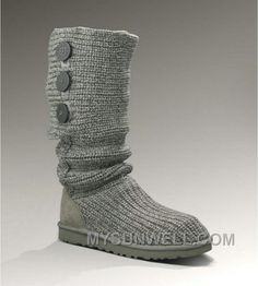 4d35ae44ea5 ugg Womens Classic Cardy Grey Is Cheap Sale Of High Quality And Big Discount !