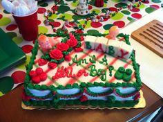 Christmas gender reveal cake!