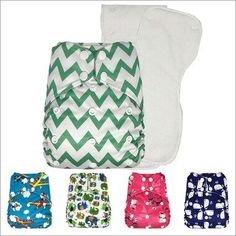Three-in-one Baby Changing Diaper Pad Baby Isolation Pad Portable Washable Reusable Overnight with Pocket Cloth Diapers Green