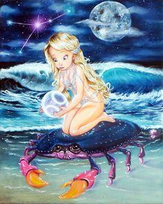 HuckSkinn Cancer Horoscope zodiac birthday June July by HuckSkinn, $34.99