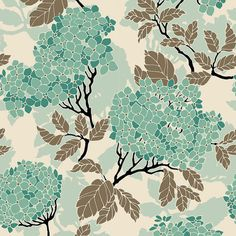 Birch Farm Hydrangea in Egg Blue Sateen by Joel Dewberry