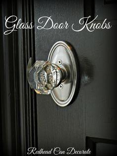Install Glass Door Knobs