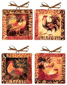 Celebrate the wild style of Africa in a subtle way with these \ Safari Rooster\ . Wild StyleDecorative PlatesRoostersDoll ... & Set of 4 Currier Ives Miniature Homestead Four Seasons Mini ...