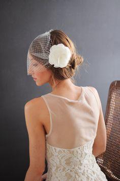 MADDIE BURLAP FLOWER bridal hair wedding by TheSunflowerStand