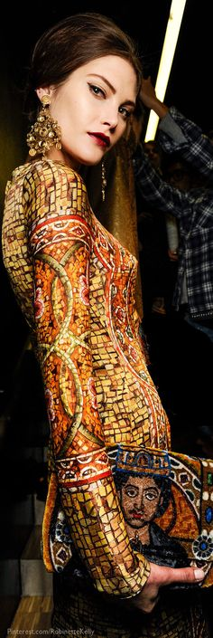 Dolce & Gabbana Byzantine dress. Gorgeous.             www.madamebridal.com