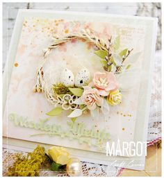 Homemade Modern, Easter Card, Flower Cards, Easter Crafts, Really Cool Stuff, Cardmaking, Projects To Try, Shabby, Scrapbook