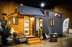 The Kootenay tiny house on wheels from Greenleaf Tiny Homes in Eugene, Oregon,