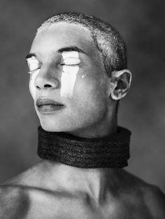 Tribal/white makeup  Amelia Lowe