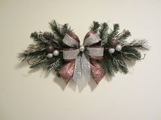 Christmas Swag Any ColorMesh Small Wreath by GiftsByWhatABeautifu