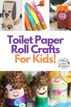 Have some extra toilet paper rolls at home? These are EPIC toilet paper roll crafts and activities for kids. Nice and easy and full of fun and learning as well. From STEM challenges, to art projects, there is so much that can be done with a simple toilet paper roll.Toil Easy Arts And Crafts, Crafts For Kids To Make, Art For Kids, Kids Crafts, Kids Fun, Cool Kids, Kids Learning Activities, Indoor Activities, Preschool Activities