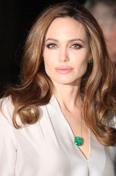 Understated Elegance - Stunning Emerald Cut Emerald Pendant w/ Simply Elegant White Silk Blouse (Close Up Photo)