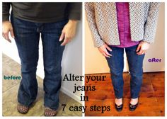 How To Alter Your Jeans- 7 Quick Steps ~ House Unseen. Life Unscripted.