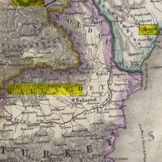 Map: Former Bessarabia, You can see Odessa highlighted. This is where my Paternal Grandparents were from. Road Trip Map, Road Trips, Ukraine, My Heritage, Cartography, My Children, Family History, Romania, Hungary