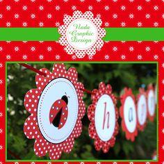 Digital printable ladybird ladybug girl first birthday party banner. $8.00, via Etsy.